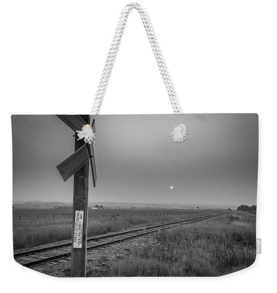 Smoke Haze Over The Prairie Weekender Tote Bag