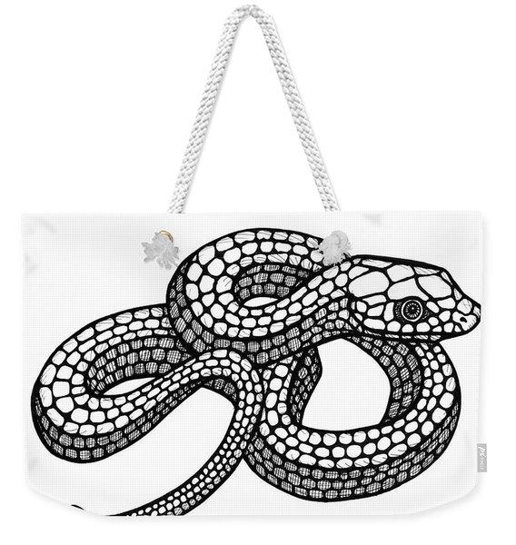 Smooth Green Snake Weekender Tote Bag