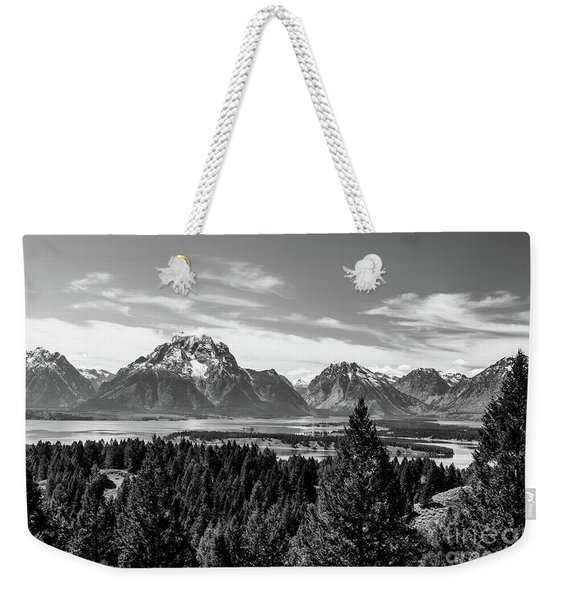 Snake River Teton Mountains Weekender Tote Bag