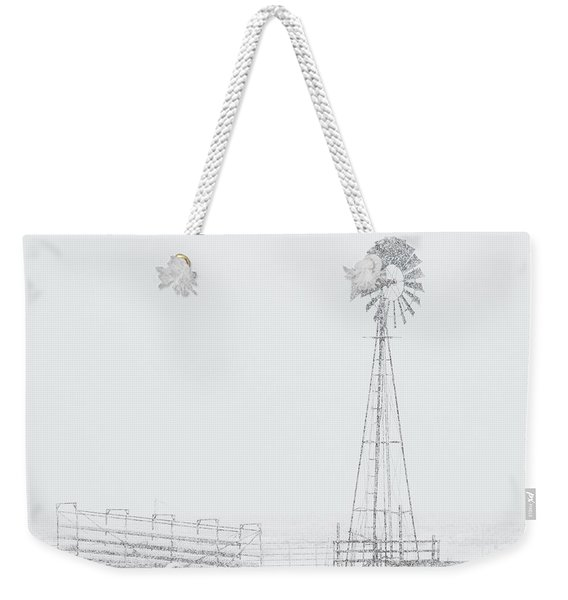 Weekender Tote Bag featuring the photograph Snow And Windmill 03 by Rob Graham