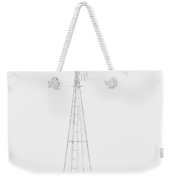 Weekender Tote Bag featuring the photograph Snow And Windmill 04 by Rob Graham