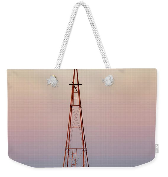 Weekender Tote Bag featuring the photograph Snow And Windmill 07 by Rob Graham