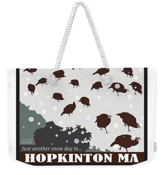 Snow Day In Hopkinton Weekender Tote Bag