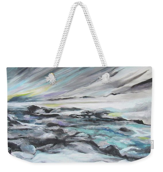 Snow Flow Weekender Tote Bag