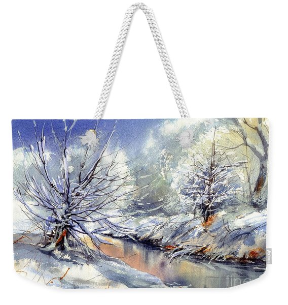 Snow Flurry Weekender Tote Bag