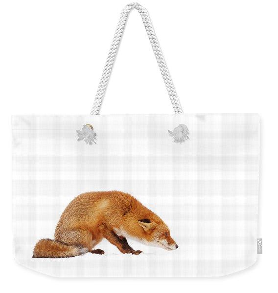Snow Fox Series - It Wasn't Me... Weekender Tote Bag