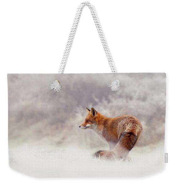 Snow Fox Series - Lost In This World Weekender Tote Bag
