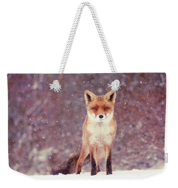 Snow Fox Series - Mrs. Self Assured, Not Insecure Weekender Tote Bag
