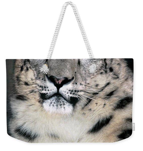 Snow Leopard Portrait Endangered Species Wildlife Rescue Weekender Tote Bag