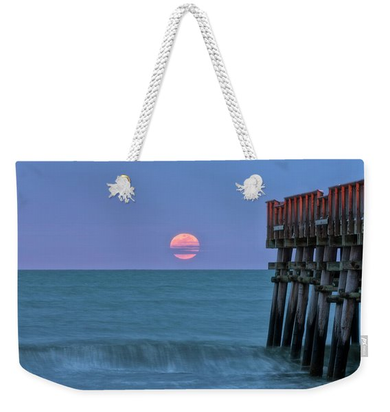 Snow Moon Weekender Tote Bag