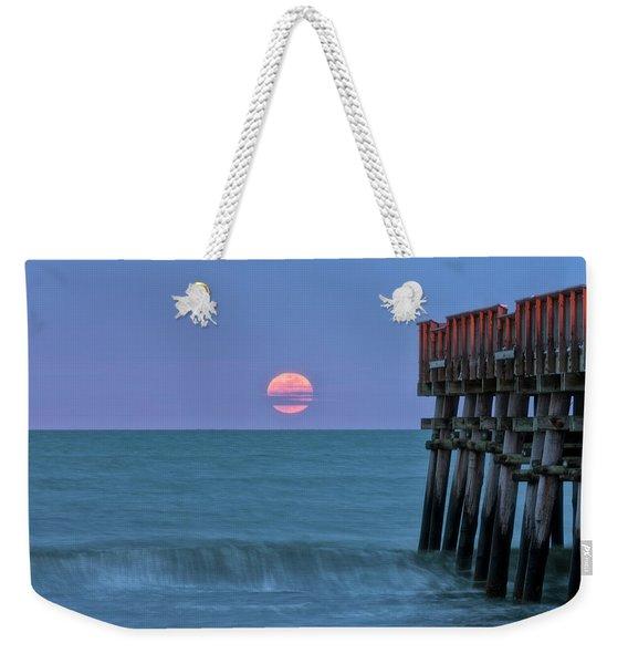 Snow Moon Weekender Tote Bag