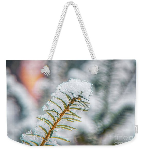 Snow Needle Weekender Tote Bag