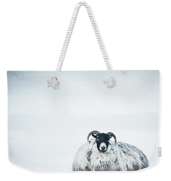 Snow Sheep Weekender Tote Bag