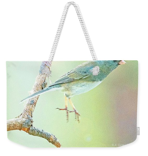 Snowbird Jumps From Tree Branch Weekender Tote Bag