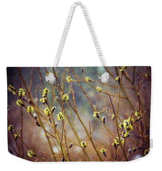 Snowfall On Budding Willows Weekender Tote Bag