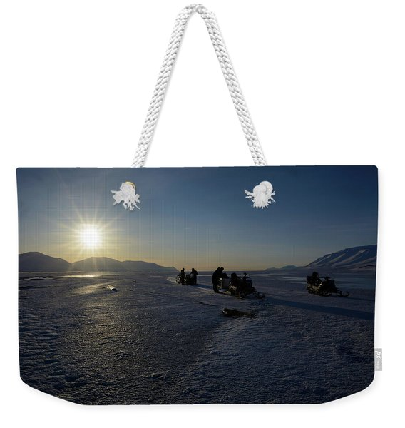 Snowmobile Expeditions Weekender Tote Bag