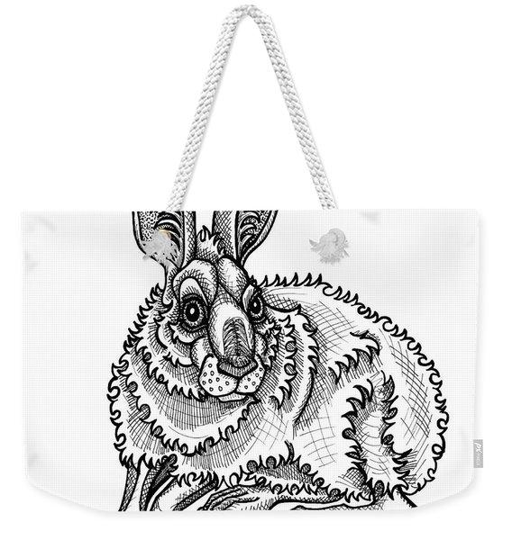 Snowshoe Hare Weekender Tote Bag