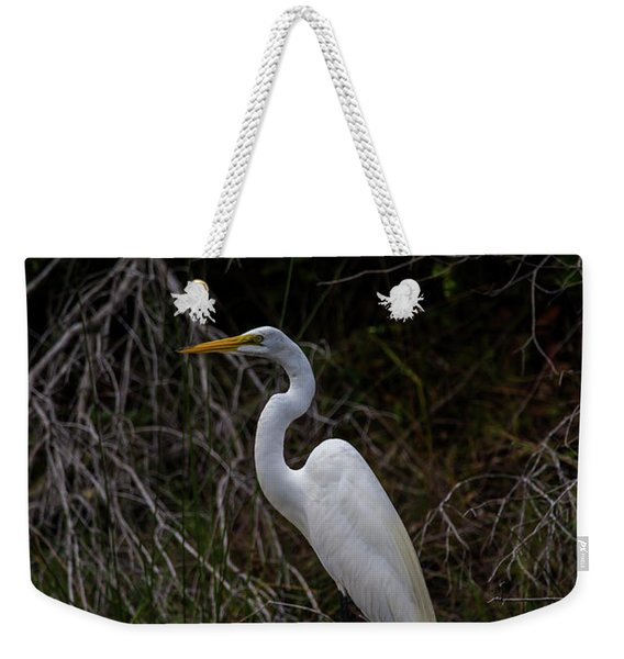 Snowy Egret On A Hot Summer Day Weekender Tote Bag