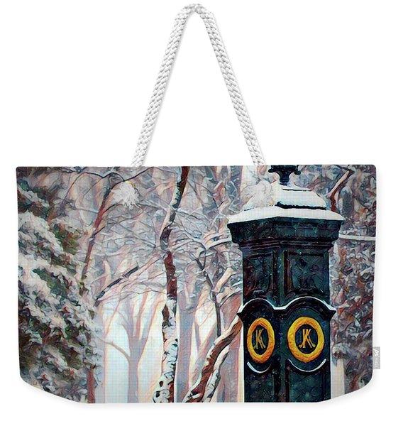 Snowy Keeneland Weekender Tote Bag