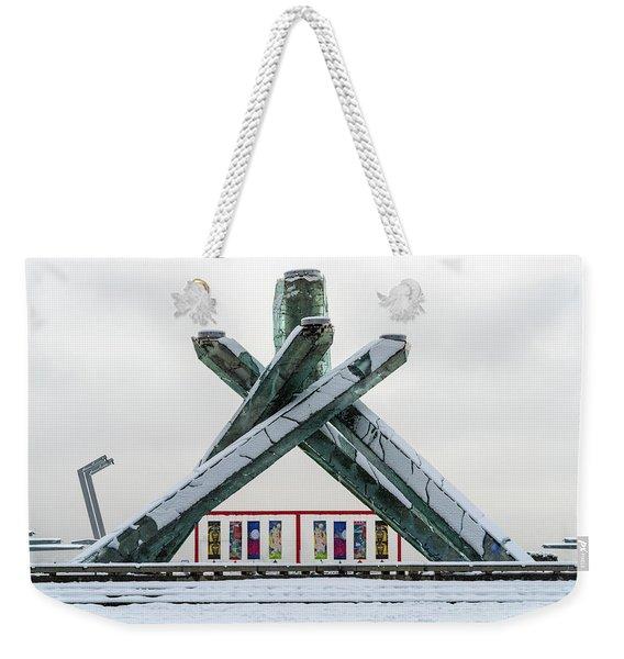 Snowy Olympic Cauldron Weekender Tote Bag
