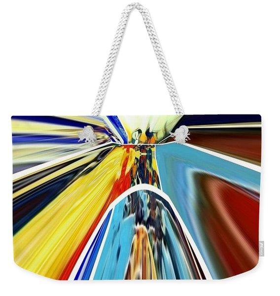 Weekender Tote Bag featuring the digital art So Far Away by A zakaria Mami