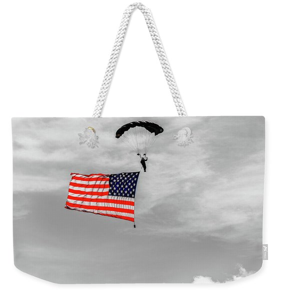 Socom Flag Jump In Selective Color Weekender Tote Bag