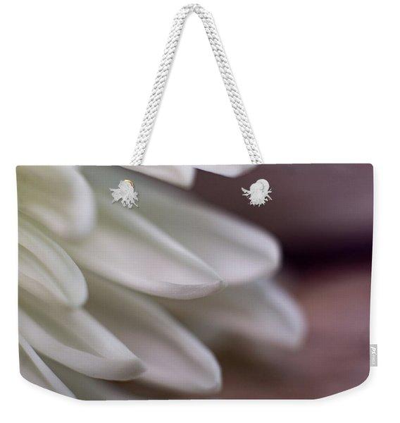 Soft White Petals-1 Weekender Tote Bag