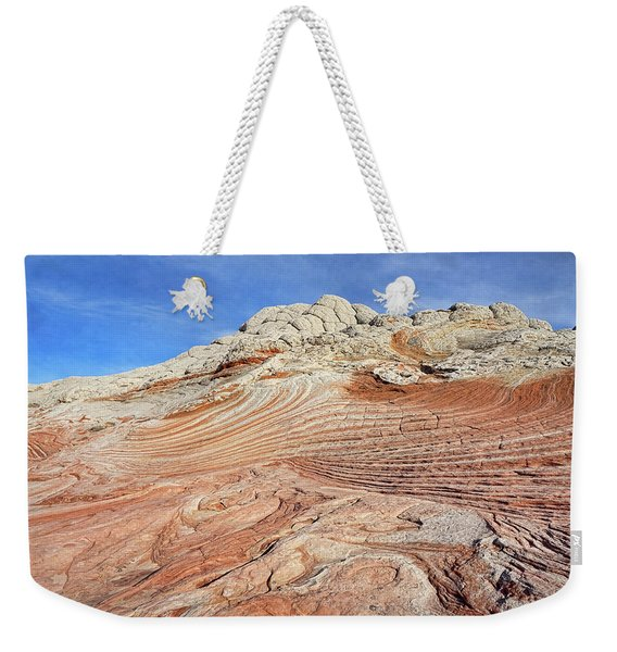 Solid Waves Pano Weekender Tote Bag