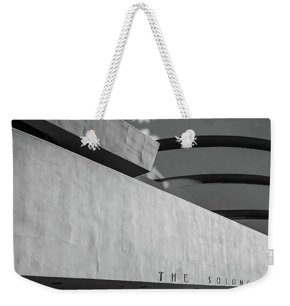 Weekender Tote Bag featuring the photograph Solomon R Guggenheim Museum by Michael Hope