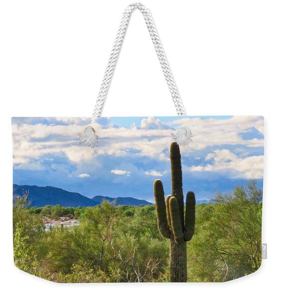 Sonoran Desert Landscape Post-monsoon Weekender Tote Bag