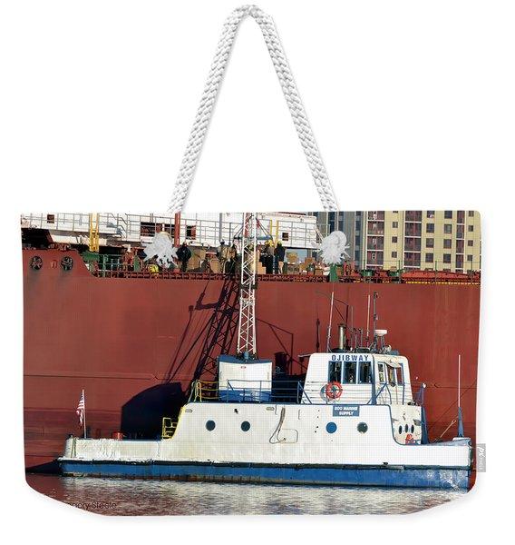 Soo Marine Supply Ojibway Weekender Tote Bag