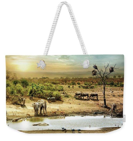 South African Safari Wildlife Fantasy Scene Weekender Tote Bag