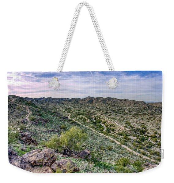 South Mountain Landscape Weekender Tote Bag
