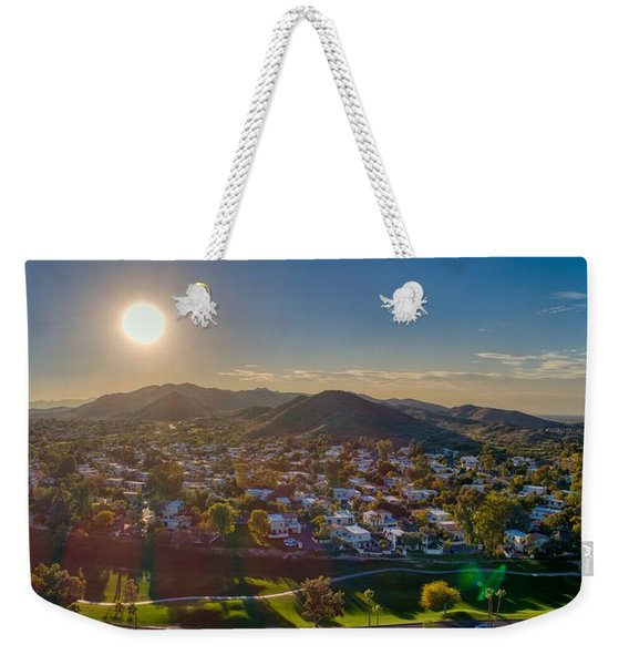 South Mountain Sunset Weekender Tote Bag
