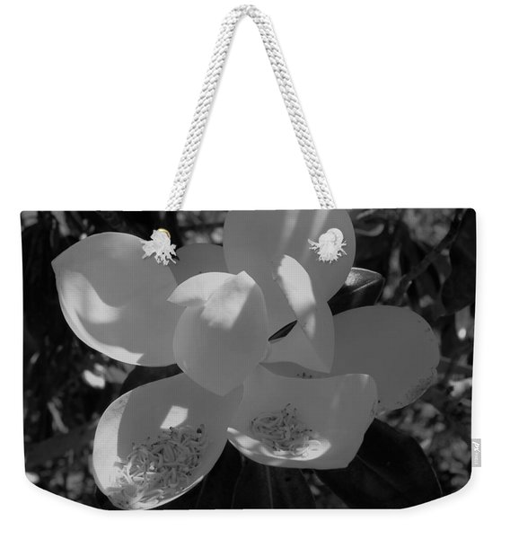 Southern Magnolia In Black And White Weekender Tote Bag