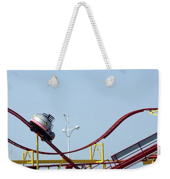 Southport.  The Fairground. Crash Test Ride. Weekender Tote Bag
