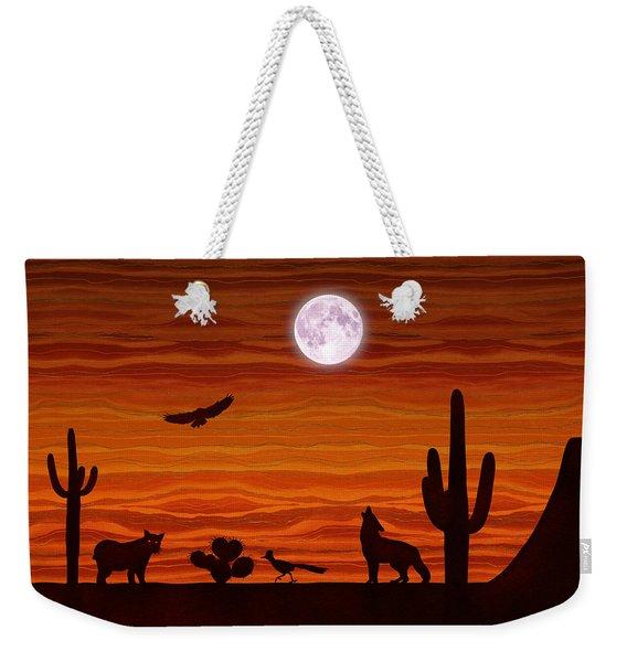Southwest Desert Silhouette Weekender Tote Bag