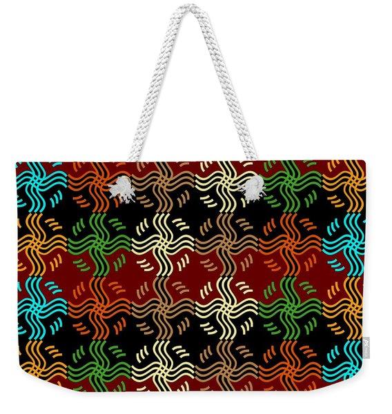 Southwestern Sun Tile Weekender Tote Bag