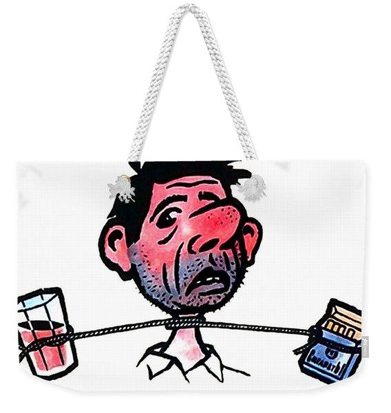 Soviet Anti-alcoholism Funny Poster Weekender Tote Bag