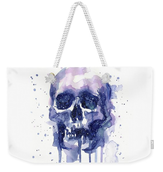 Space Skull Weekender Tote Bag