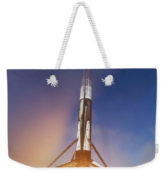 Spacex Falcon 9 Booster Landing Weekender Tote Bag