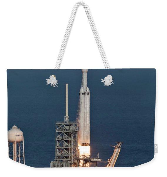 Spacex Falcon Heavy Demo Flight - Liftoff Weekender Tote Bag
