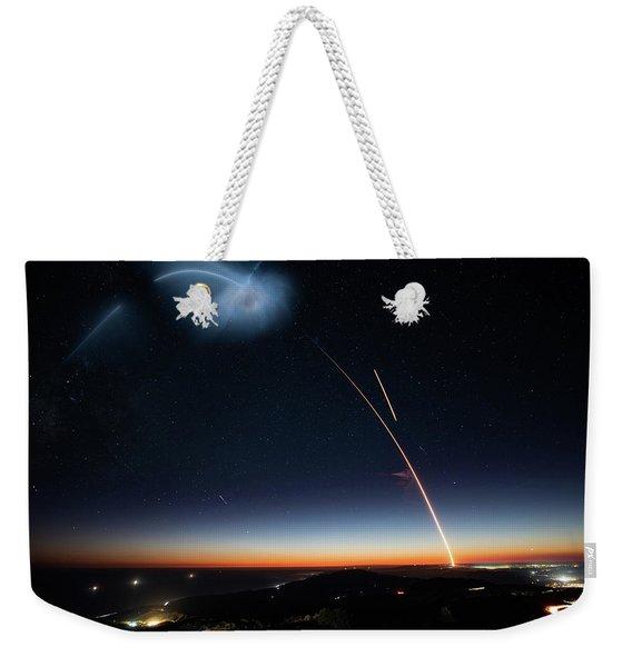 Spacex Night Sky Weekender Tote Bag