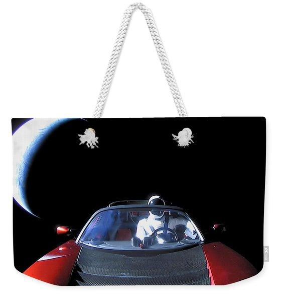 Spacex Starman In Space Weekender Tote Bag
