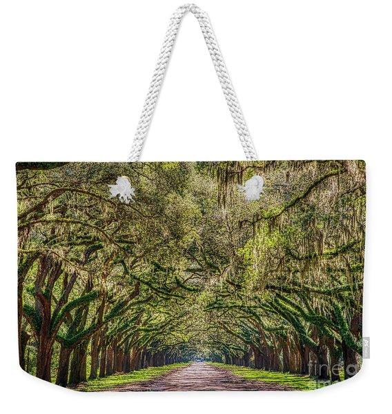 Spanish Moss Tree Tunnel Weekender Tote Bag