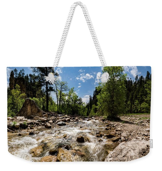 Spearfish Creek And Canyon, South Dakota Weekender Tote Bag