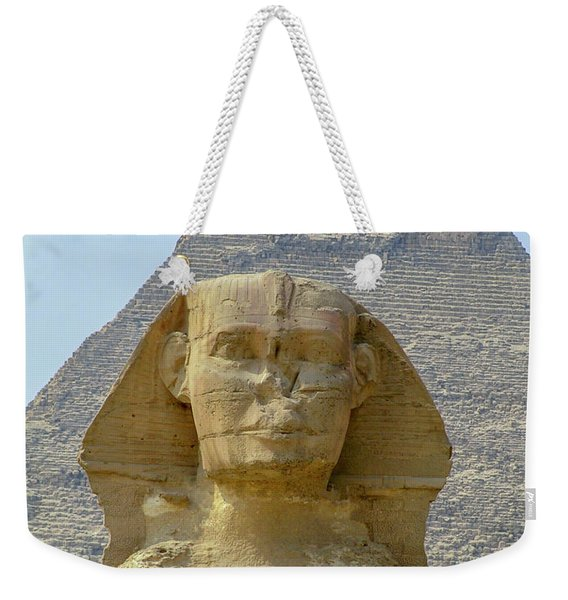 Sphinx At Giza, Egypt F4 Weekender Tote Bag