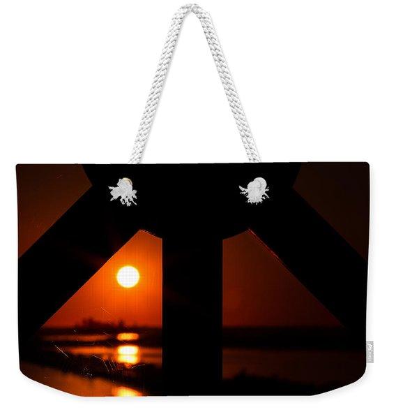 Spiderweb View Weekender Tote Bag