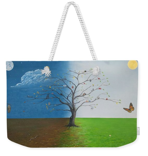 Weekender Tote Bag featuring the painting Spirit Of Eden by Kevin Daly