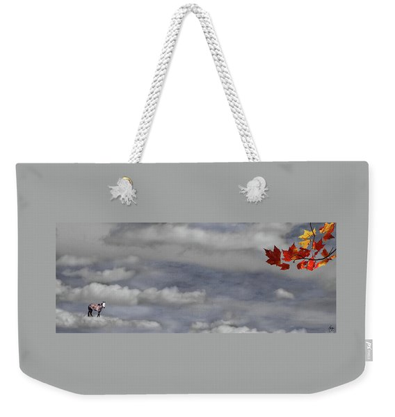 Weekender Tote Bag featuring the photograph Spirit Pony In A Maple Sky by Wayne King